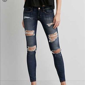 Light wash AE distressed jeans